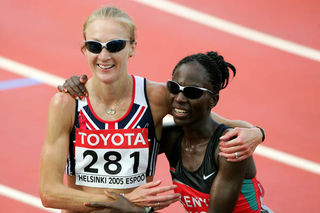 Gold and silver medallists Paula Radcliffe and Catherine Ndereba