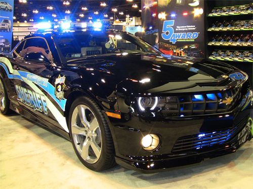 FYI: The Oklahoma County Sheriff drove this modified V-8 Camaro SS himself