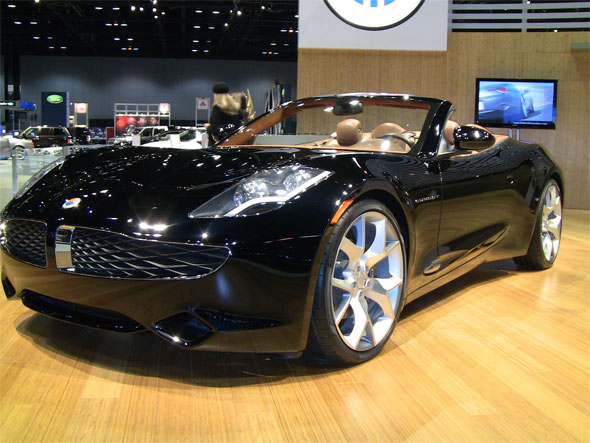 2010 Chicago Auto Show Video Fisker Karma Plug In Hybrid Debuts Along With Y New Convertible