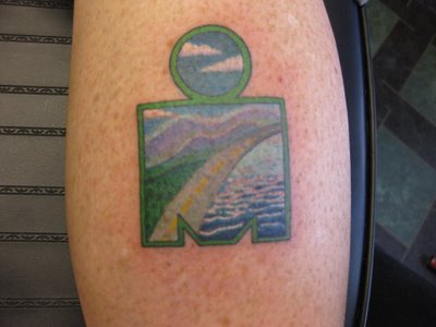 Photo Gallary: The art of the Ironman tattoo or when a boring M-DOT just