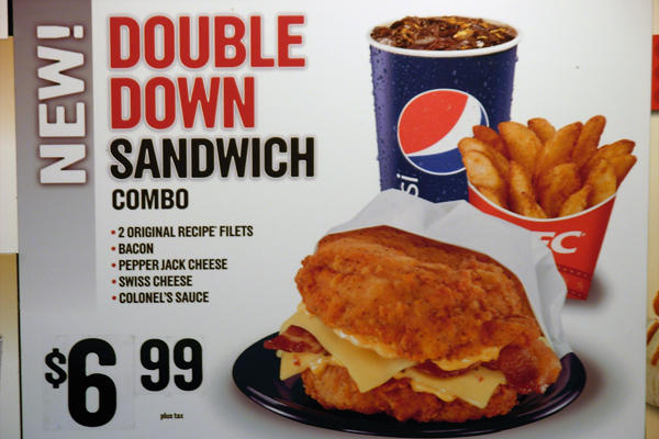 Fail: KFC's Double Down mega fatty fried and uber-cholesterol ...