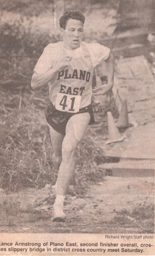 Photo of the day: a young Lance Armstrong at his Plano East