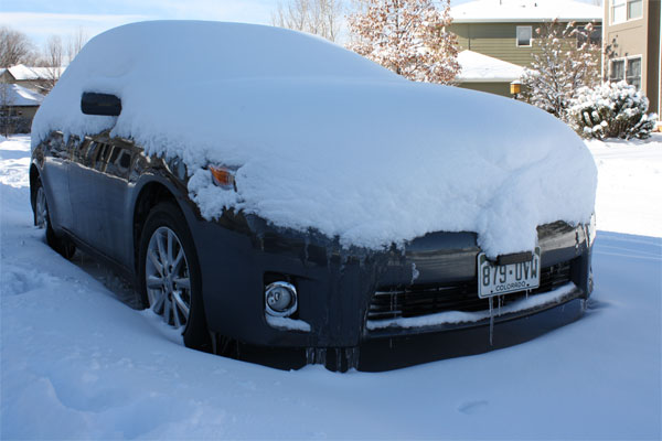 As You Can Tell By The Photo Above Our 2011 Camry Hybrid Is Snowbound.